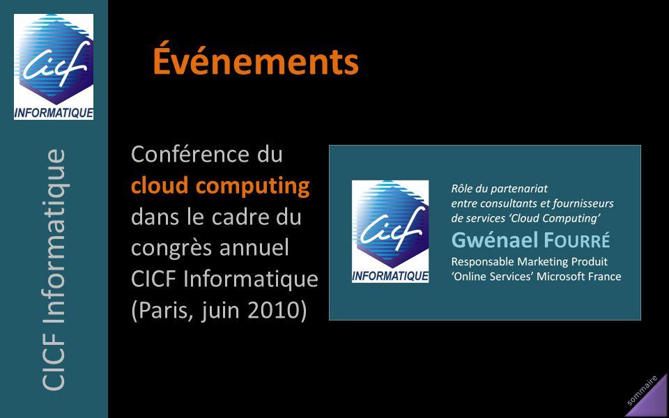 Événements CICF Informatique