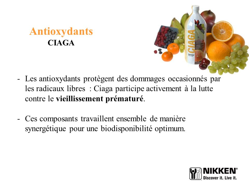 Antioxydants CIAGA.