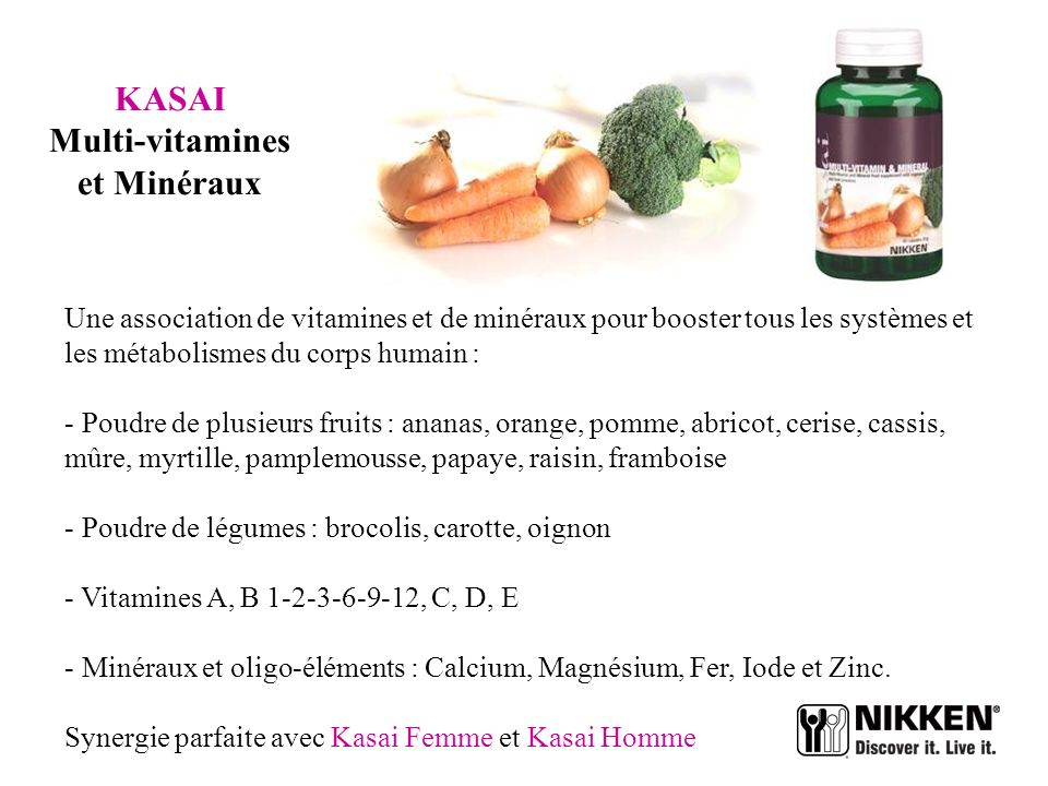 KASAI Multi-vitamines et Minéraux