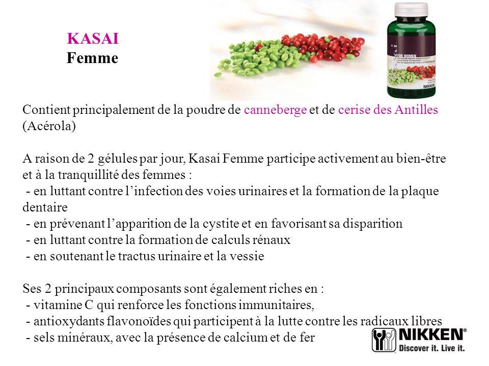KASAI Femme Contient principalement de la poudre de canneberge et de cerise des Antilles (Acérola)