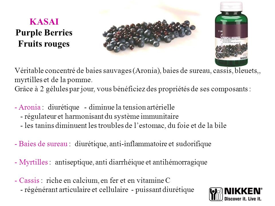 KASAI Purple Berries Fruits rouges