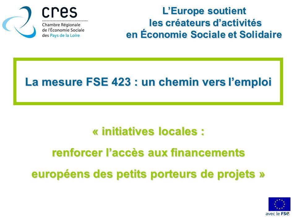 La mesure FSE 423 : un chemin vers l'emploi