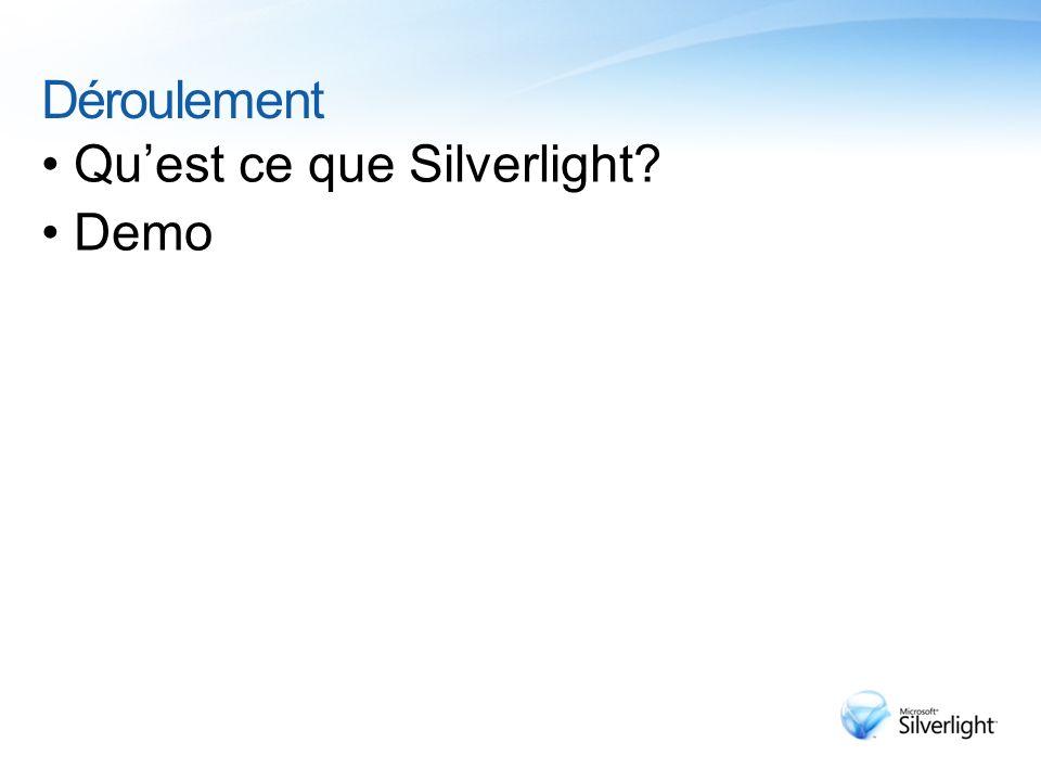 Déroulement Qu'est ce que Silverlight Demo 3/30/2017 2:13 AM