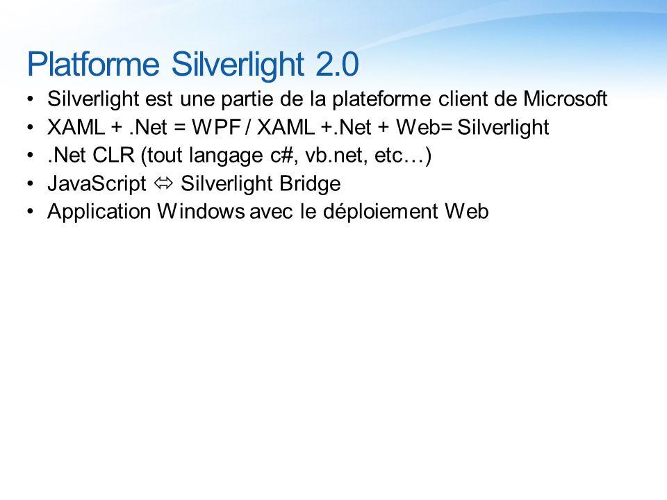 Platforme Silverlight 2.0