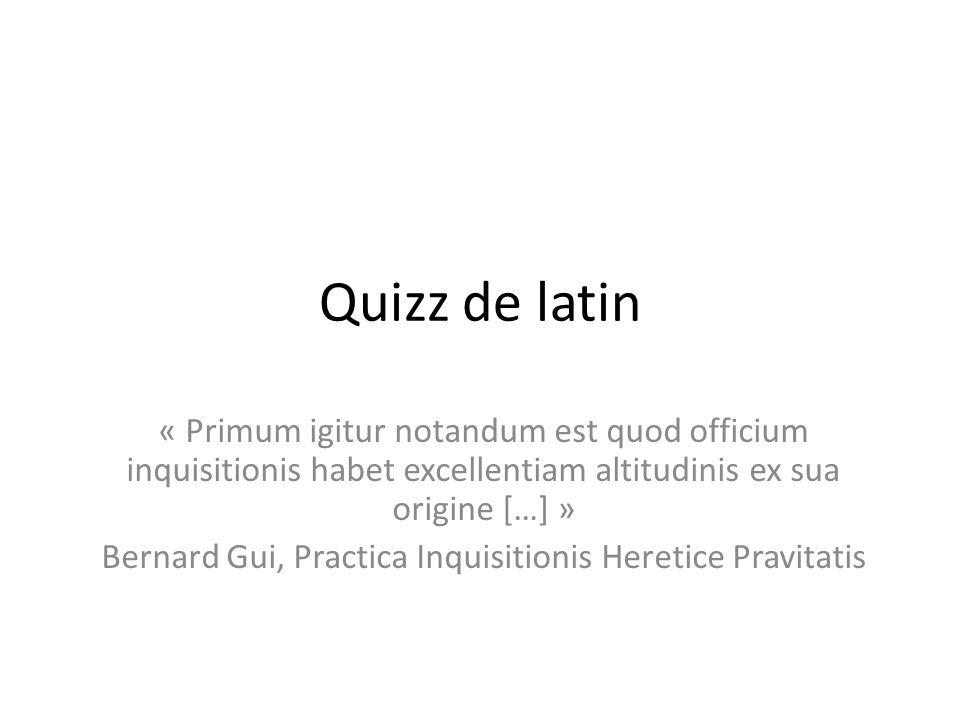 Bernard Gui, Practica Inquisitionis Heretice Pravitatis