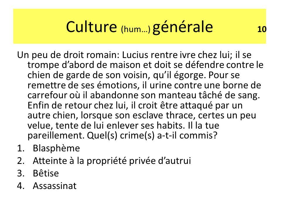 Culture (hum…) générale