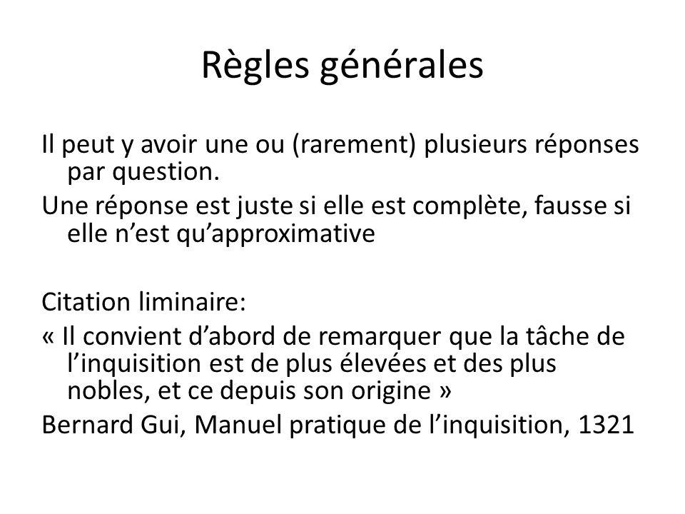 Règles générales