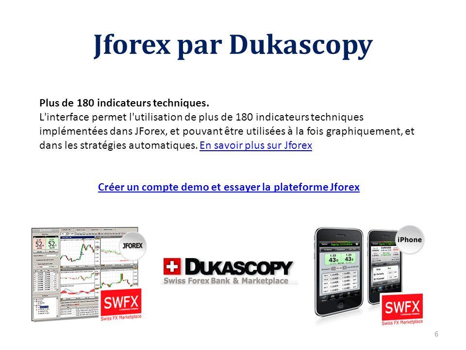Créer un compte demo et essayer la plateforme Jforex