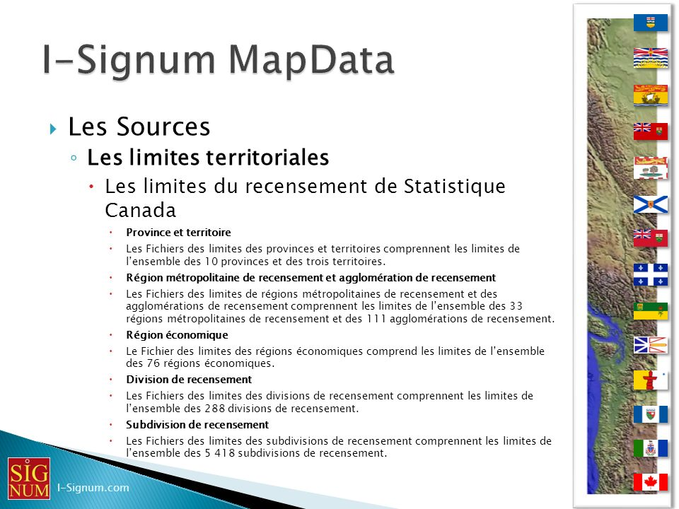 I-Signum MapData Les Sources Les limites territoriales