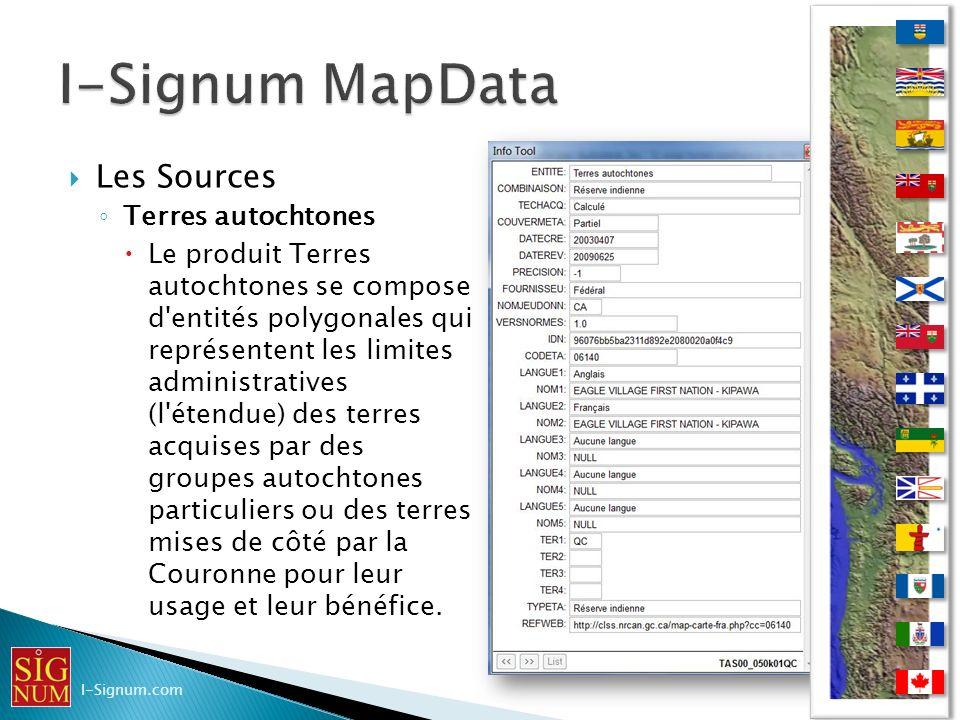 I-Signum MapData Les Sources Terres autochtones