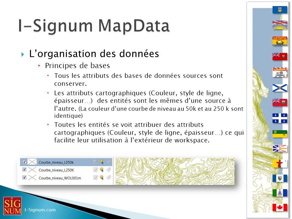 I-Signum MapData L'organisation des données Principes de bases