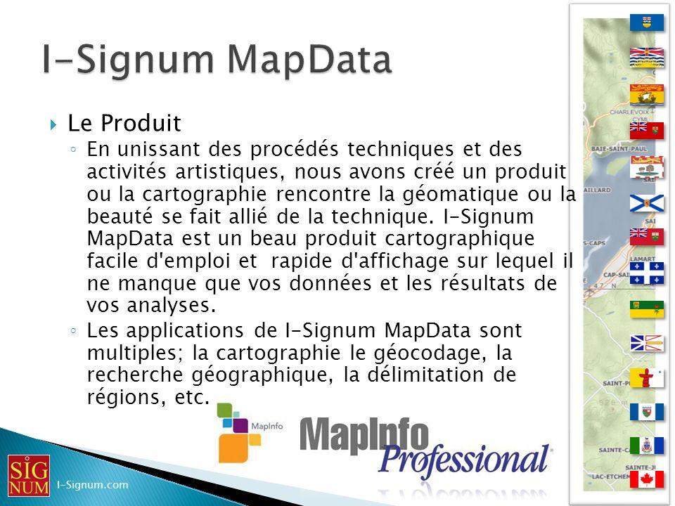 I-Signum MapData Le Produit