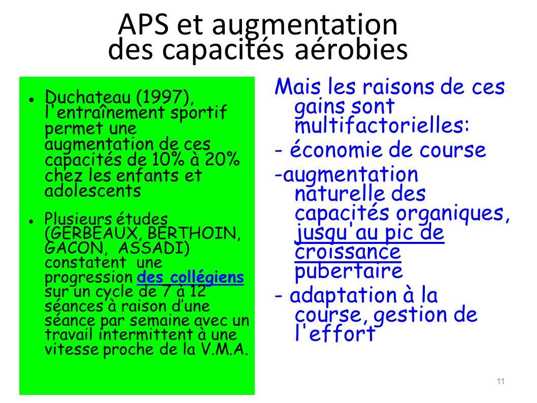 APS et augmentation des capacités aérobies