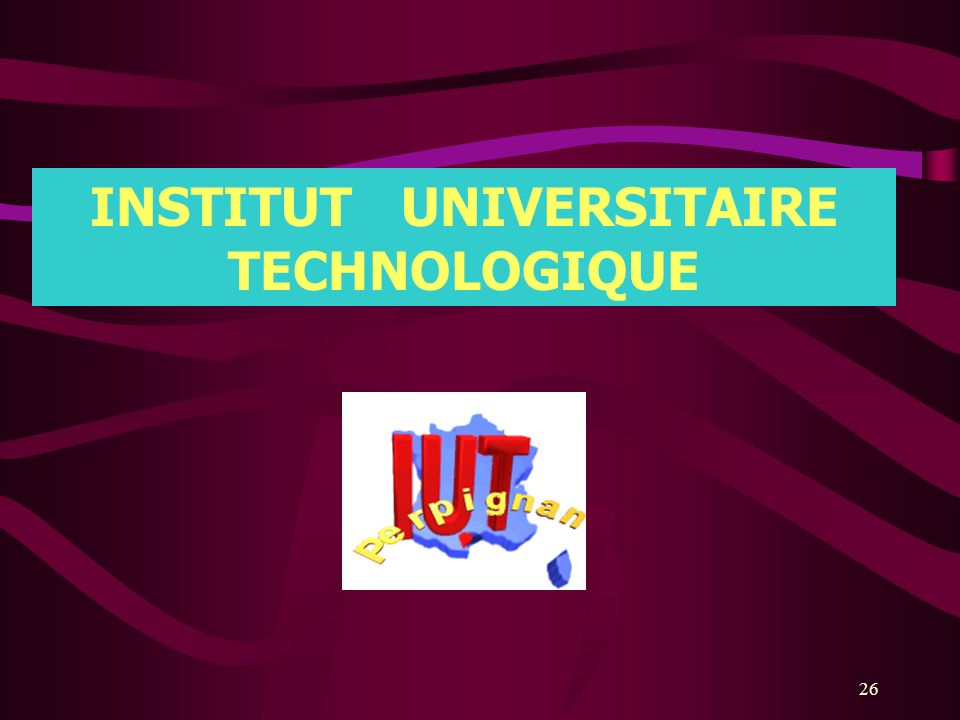 INSTITUT UNIVERSITAIRE TECHNOLOGIQUE