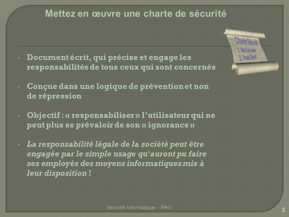 Mettez en œuvre une charte de sécurité
