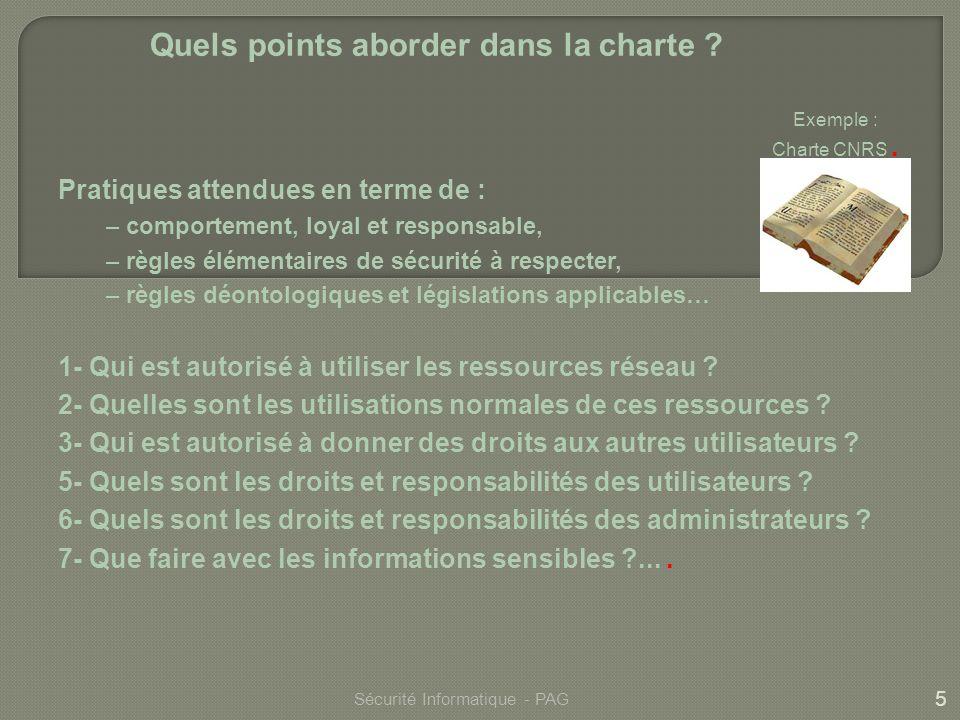 Quels points aborder dans la charte