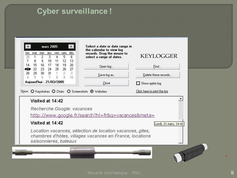 Cyber surveillance ! . Sécurité Informatique - PAG