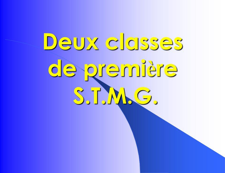 Deux classes de première S.T.M.G.