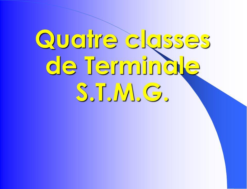 Quatre classes de Terminale S.T.M.G.
