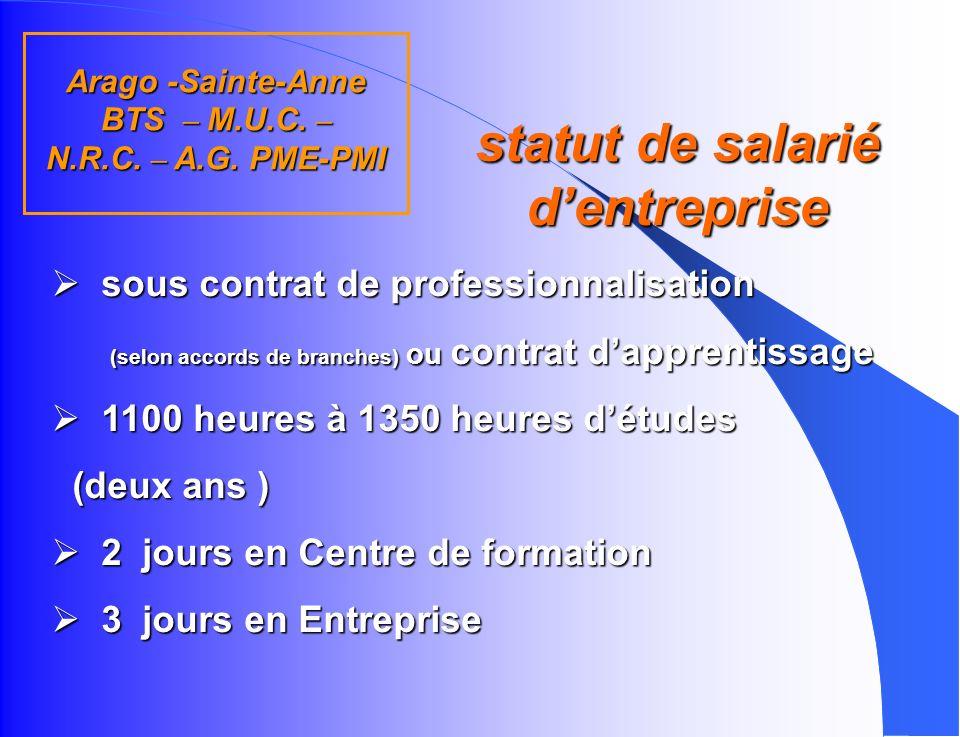 statut de salarié d'entreprise