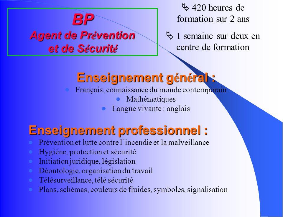 BP Agent de Prévention et de Sécurité