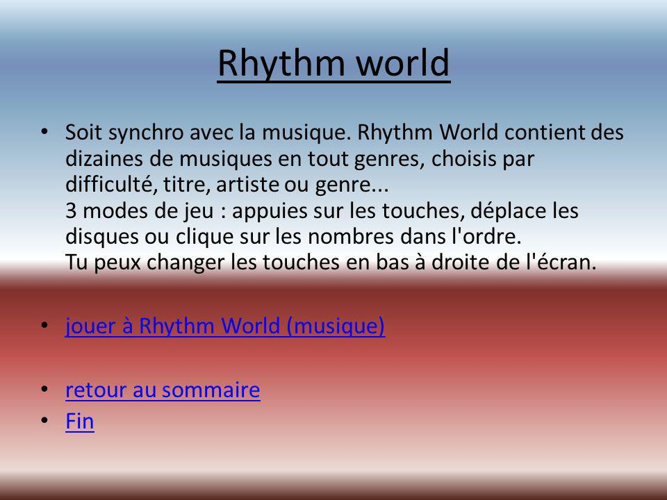 Rhythm world