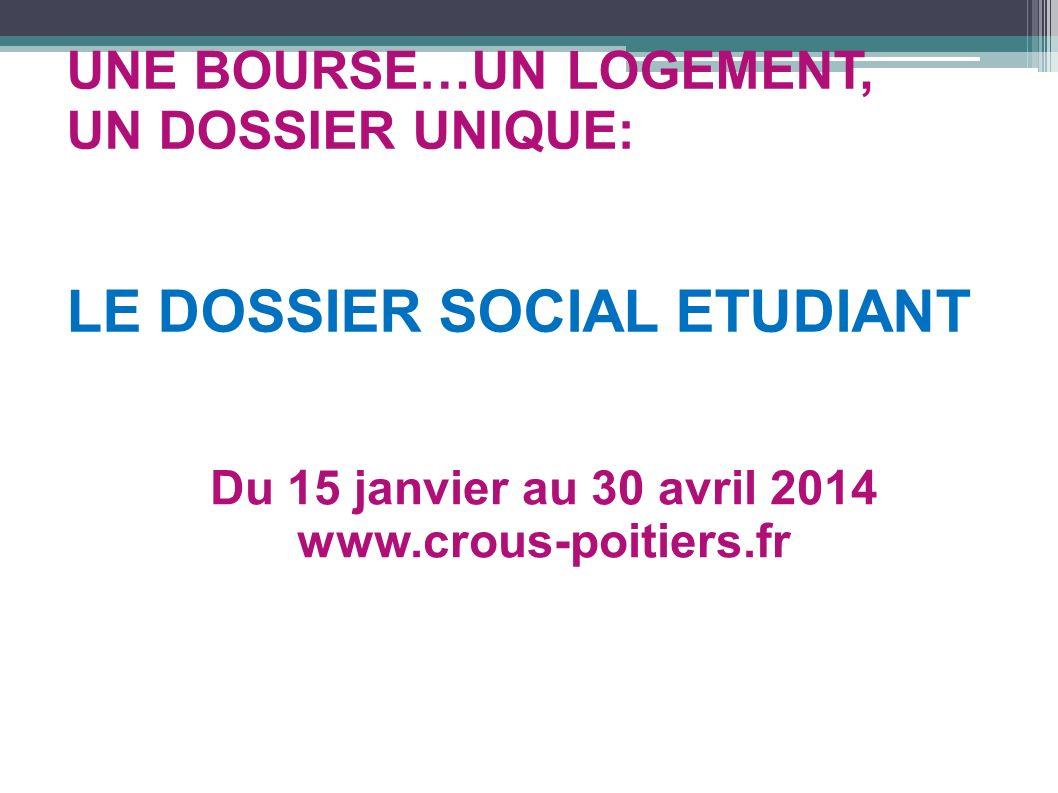LE DOSSIER SOCIAL ETUDIANT