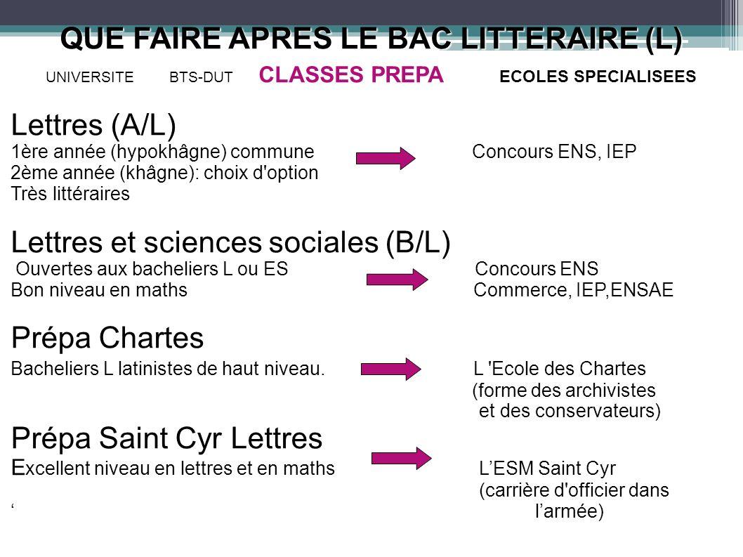 Lettres et sciences sociales (B/L)