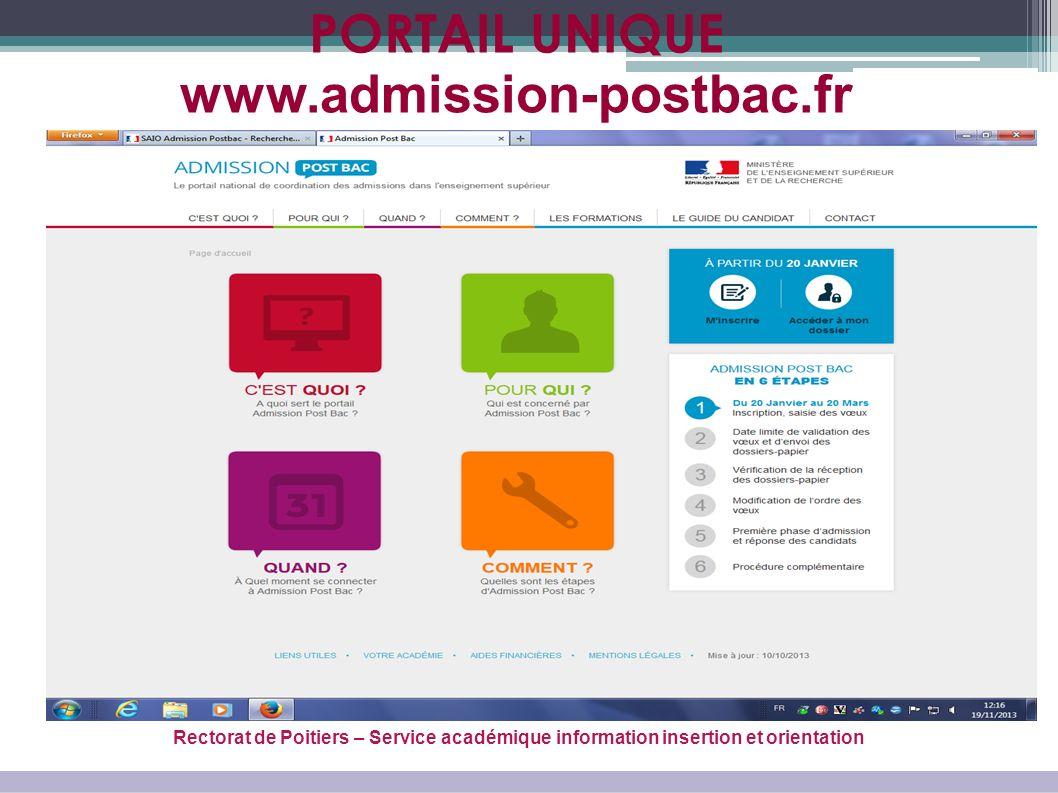 PORTAIL UNIQUE www.admission-postbac.fr