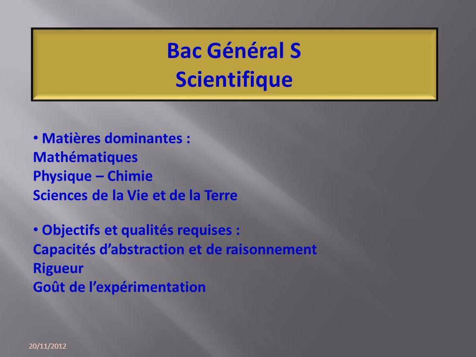Bac Général S Scientifique