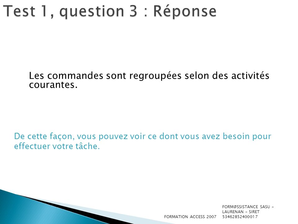 Test 1, question 3 : Réponse