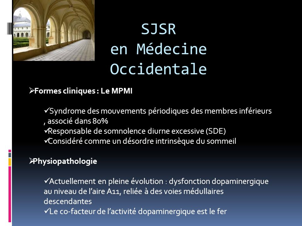 SJSR en Médecine Occidentale