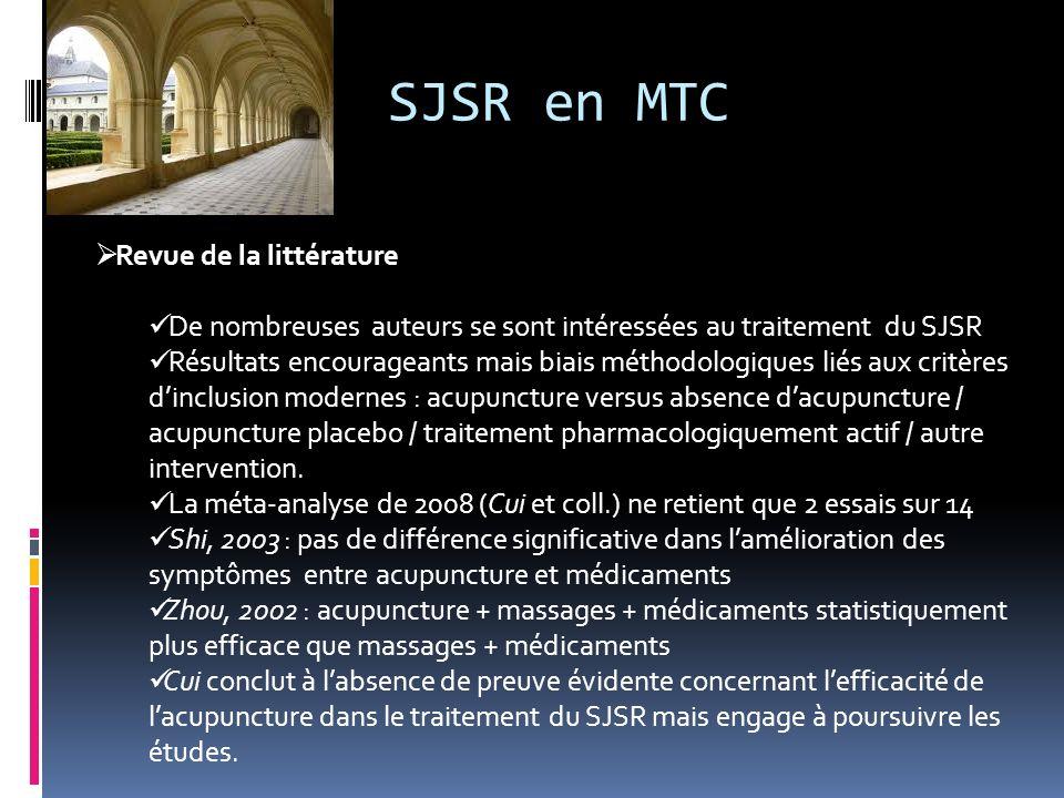 SJSR en MTC Revue de la littérature