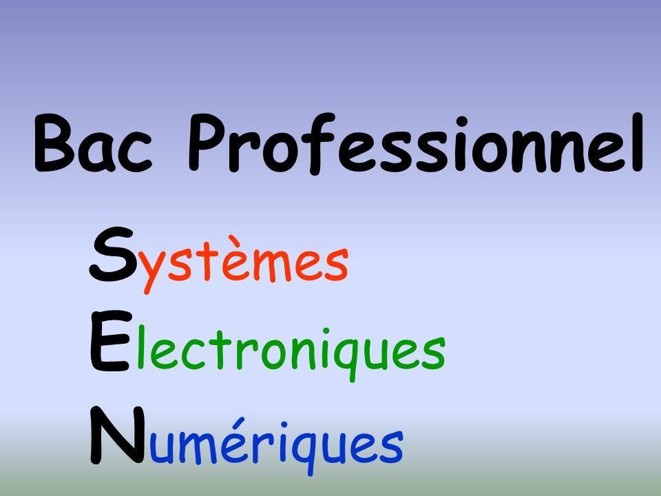 Bac Professionnel Systèmes Electroniques Numériques