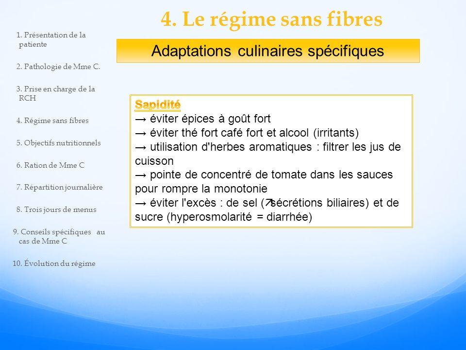 Adaptations culinaires spécifiques