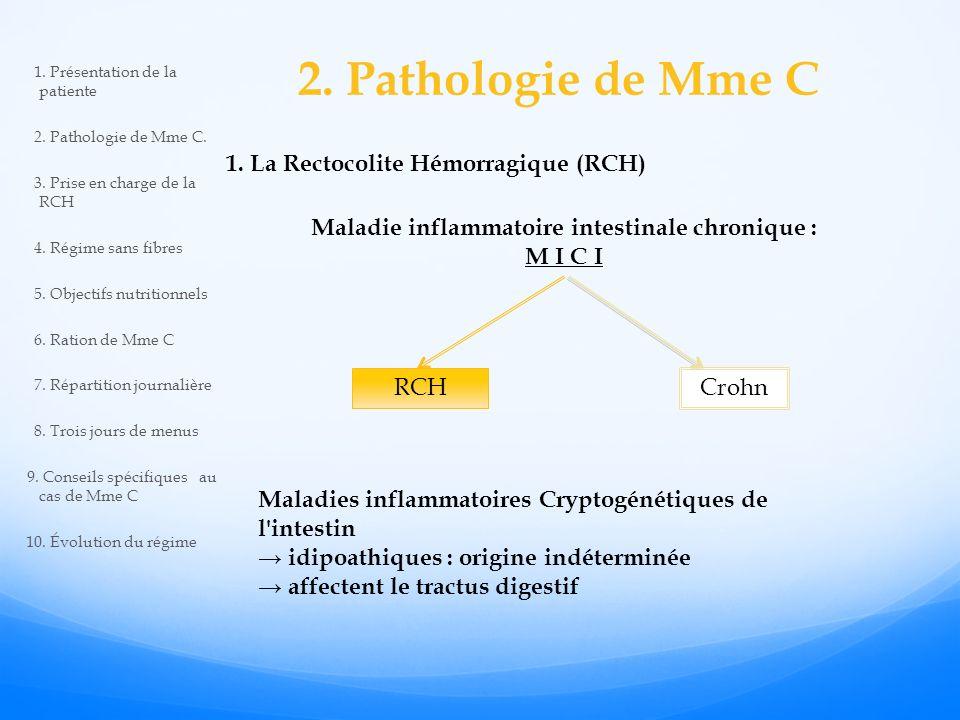 Maladie inflammatoire intestinale chronique :