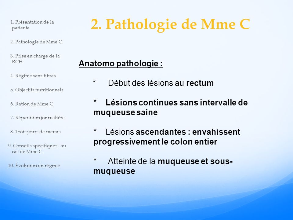 2. Pathologie de Mme C Anatomo pathologie :