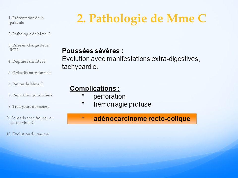 2. Pathologie de Mme C Poussées sévères :