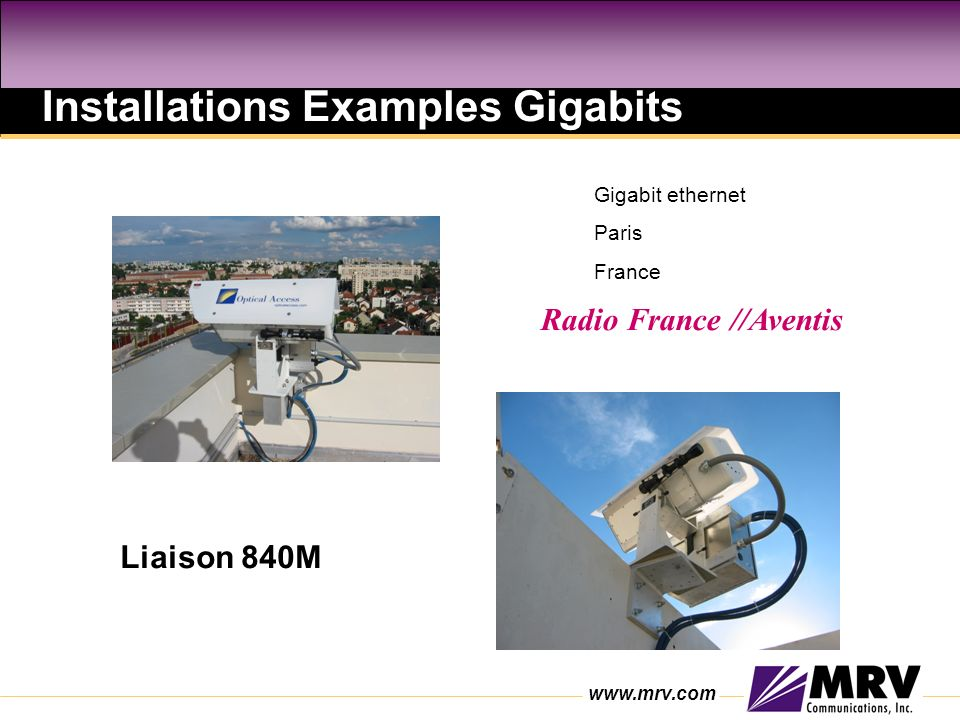 Installations Examples Gigabits