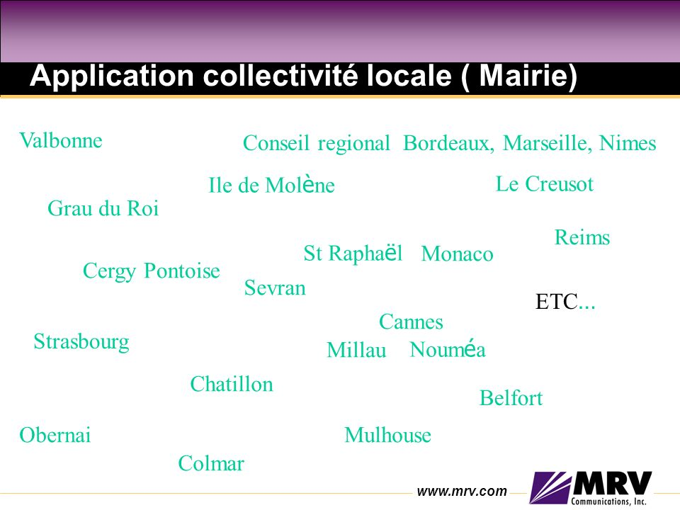 Application collectivité locale ( Mairie)