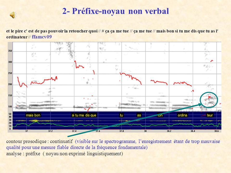 2- Préfixe-noyau non verbal