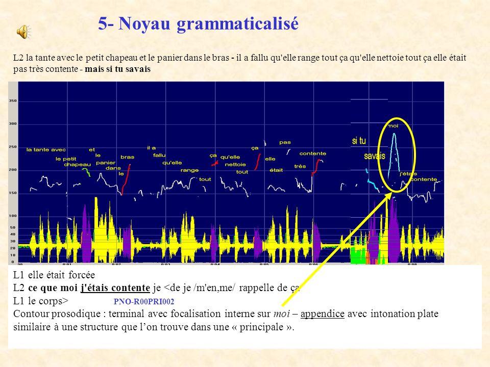 5- Noyau grammaticalisé