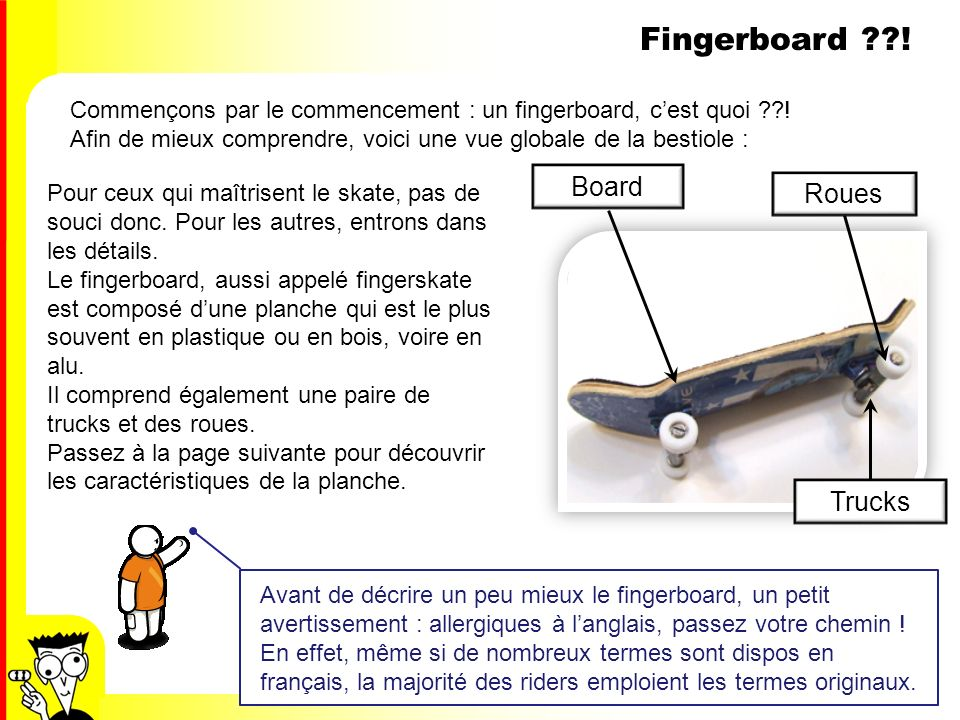 Fingerboard ! Board Roues Trucks