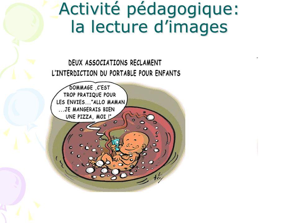 Activité pédagogique: la lecture d'images