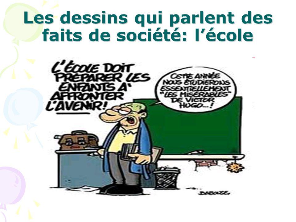 Les dessins qui parlent des faits de société: l'école