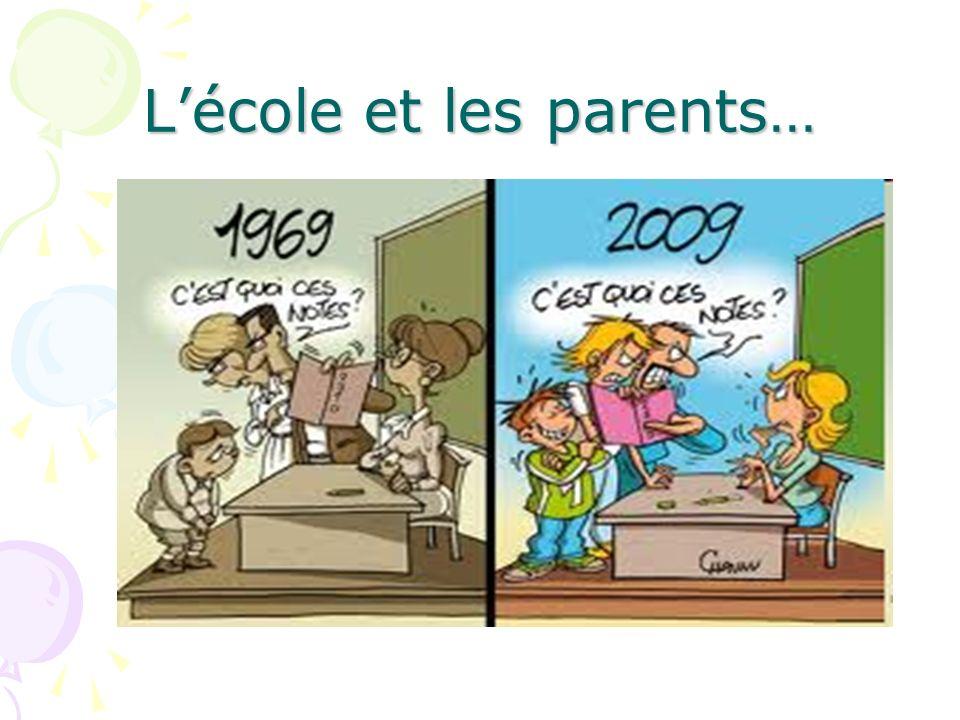 L'école et les parents…