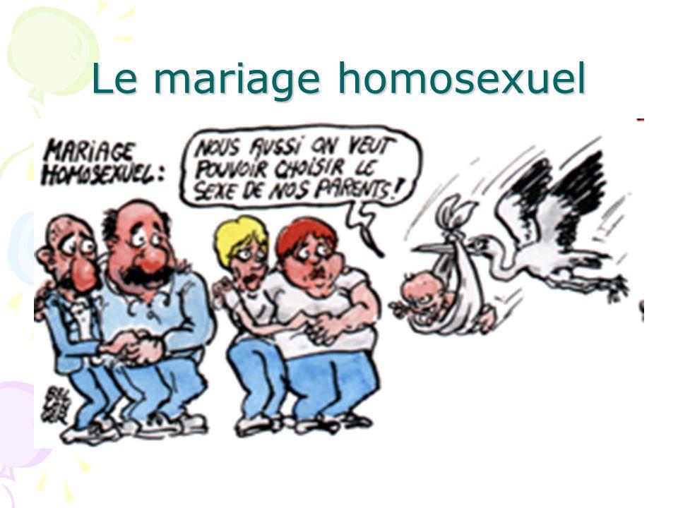 Le mariage homosexuel