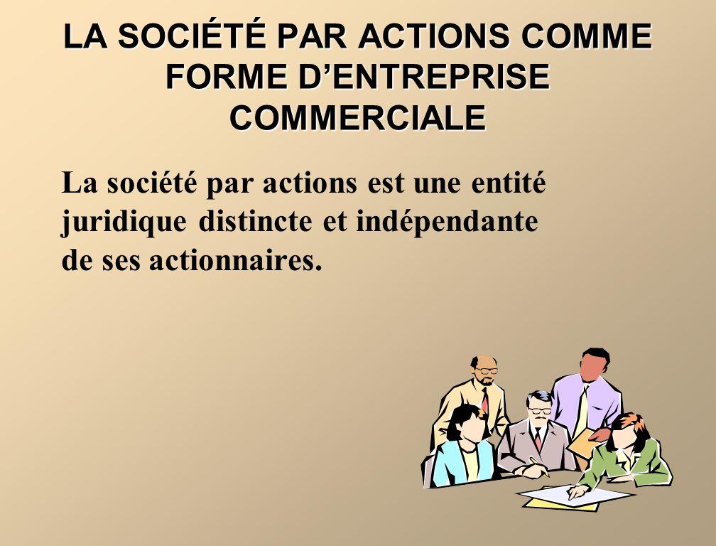 LA SOCIÉTÉ PAR ACTIONS COMME FORME D'ENTREPRISE COMMERCIALE