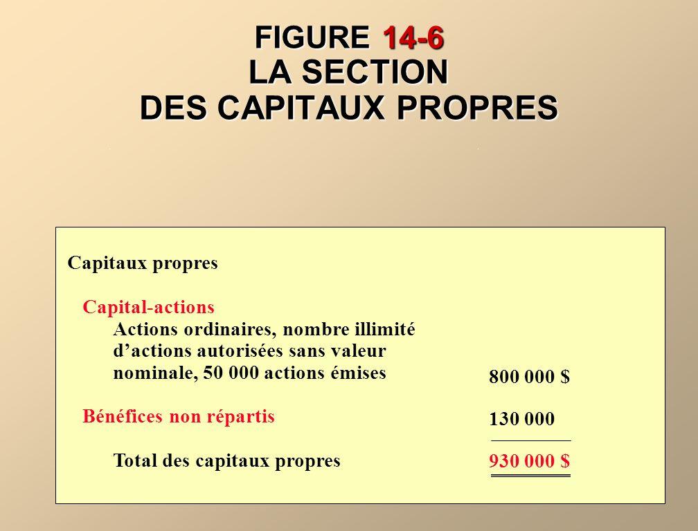 FIGURE 14-6 LA SECTION DES CAPITAUX PROPRES