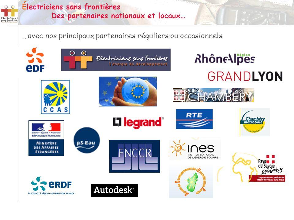 Électriciens sans frontières Des partenaires nationaux et locaux…